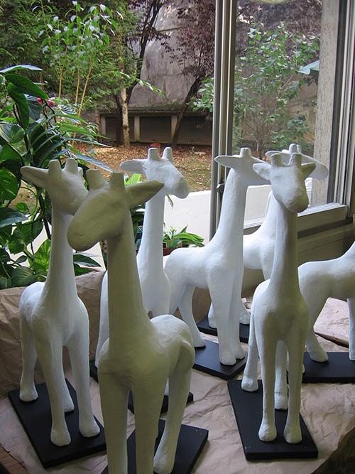 Petites girafes relookées à l'AFPric
